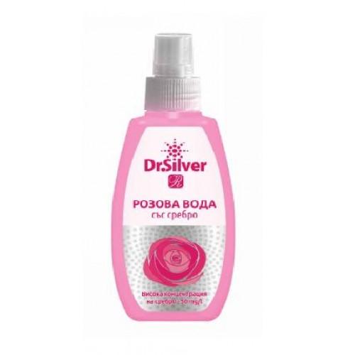 Розова вода със сребро -Dr.Silver спрей 75мл