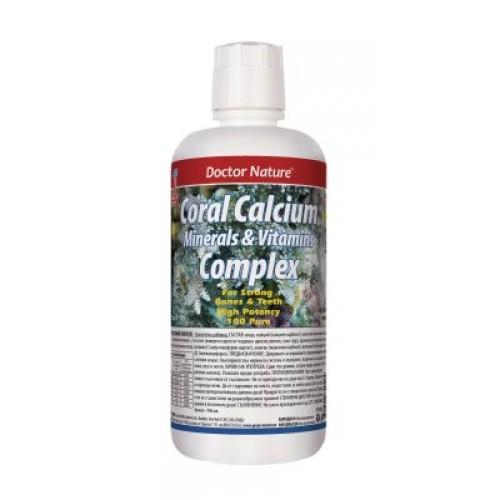 Dr. Nature Коралов калций комплекс с витамини и минерали, 946 мл