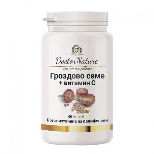 Dr. Nature Гроздово семе + витамин С, 60 капсули