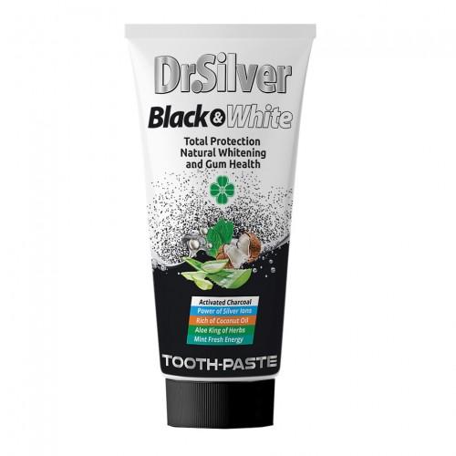 Dr.Silver Паста за зъби с активен въглен Black&White 75 мл