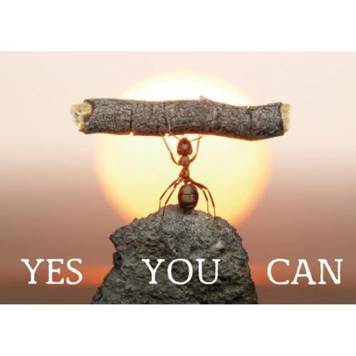 """Поздравителна картичка """"YES YOU CAN"""""""