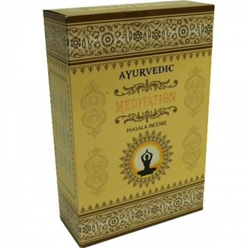"""Аюрведични ароматни пръчици """"Meditation"""" - Масала 10 гр."""