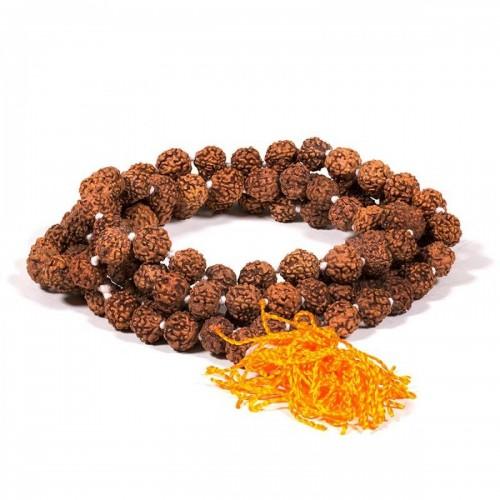 Рудракша мала - будистка молитвена броеница от семена рудракша 8 мм