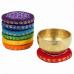 Възглавничка с чакра мотив - поставка за тибетска пееща купа